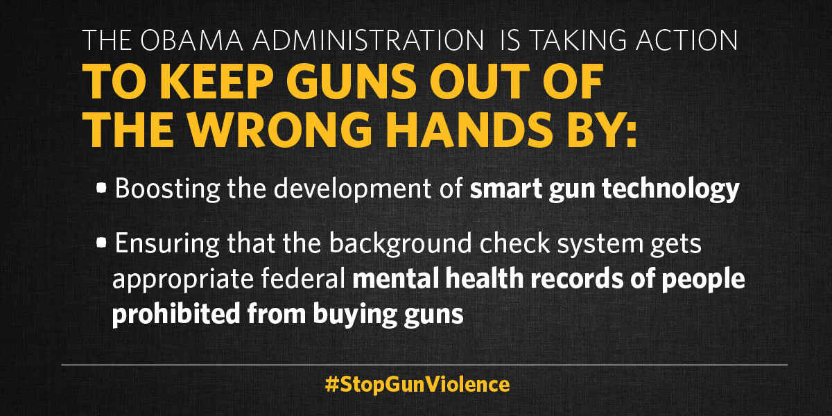 White House Takes Action On Smart Guns Mental Health Ceasefire Pa