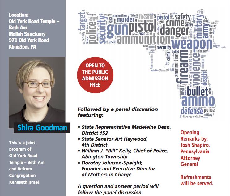 Shira Goodman talks Gun Violence in Pennsylvania March 1, 2017