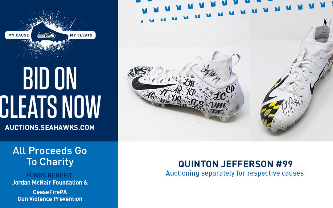 Quinton Jefferson Honors CeaseFirePA with My Cleats My Cause