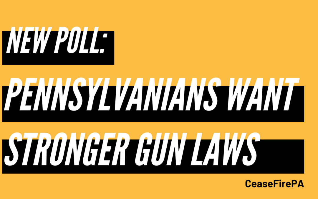 New Poll Finds Majority of PA Voters Support Stronger Gun Laws