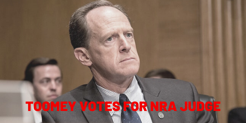 Sen. Toomey Votes to Confirm Another NRA Judge